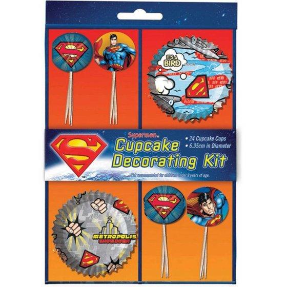 Superman Cupcake Decorations Kit
