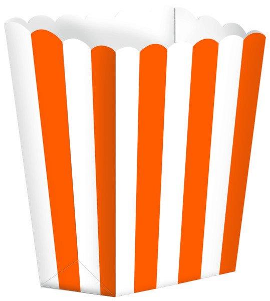 Popcorn Favor Boxes Stripe Small Orange