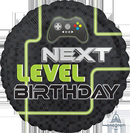45cm Standard HX Level Up Next Level Birthday S40