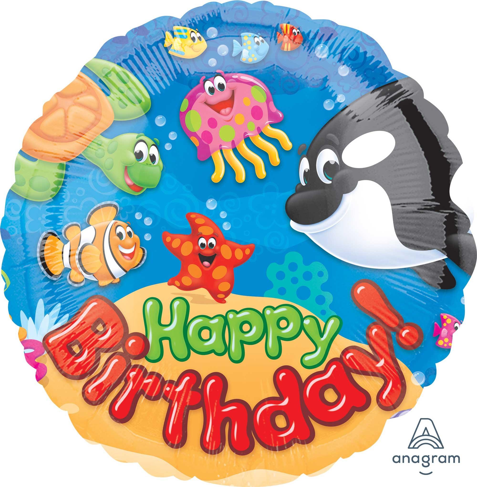 45cm Standard HX Trend Sea Buddies Happy Birthday S40