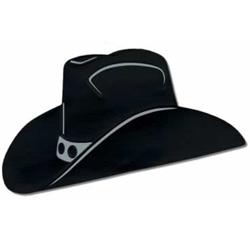 Cowboy Hat Black Foil Silhouette Cutout
