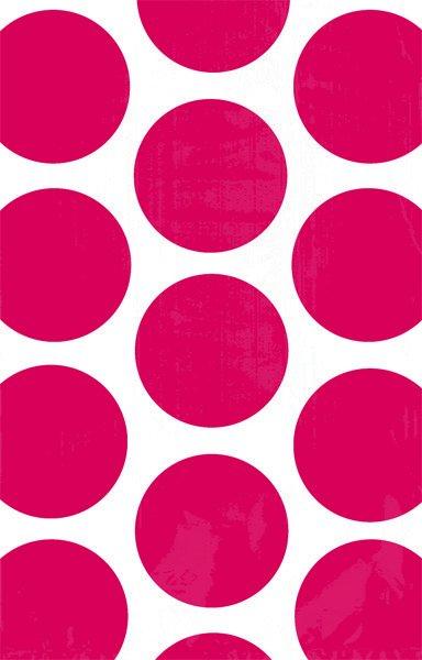 Paper Bag Polka Dot Apple Red