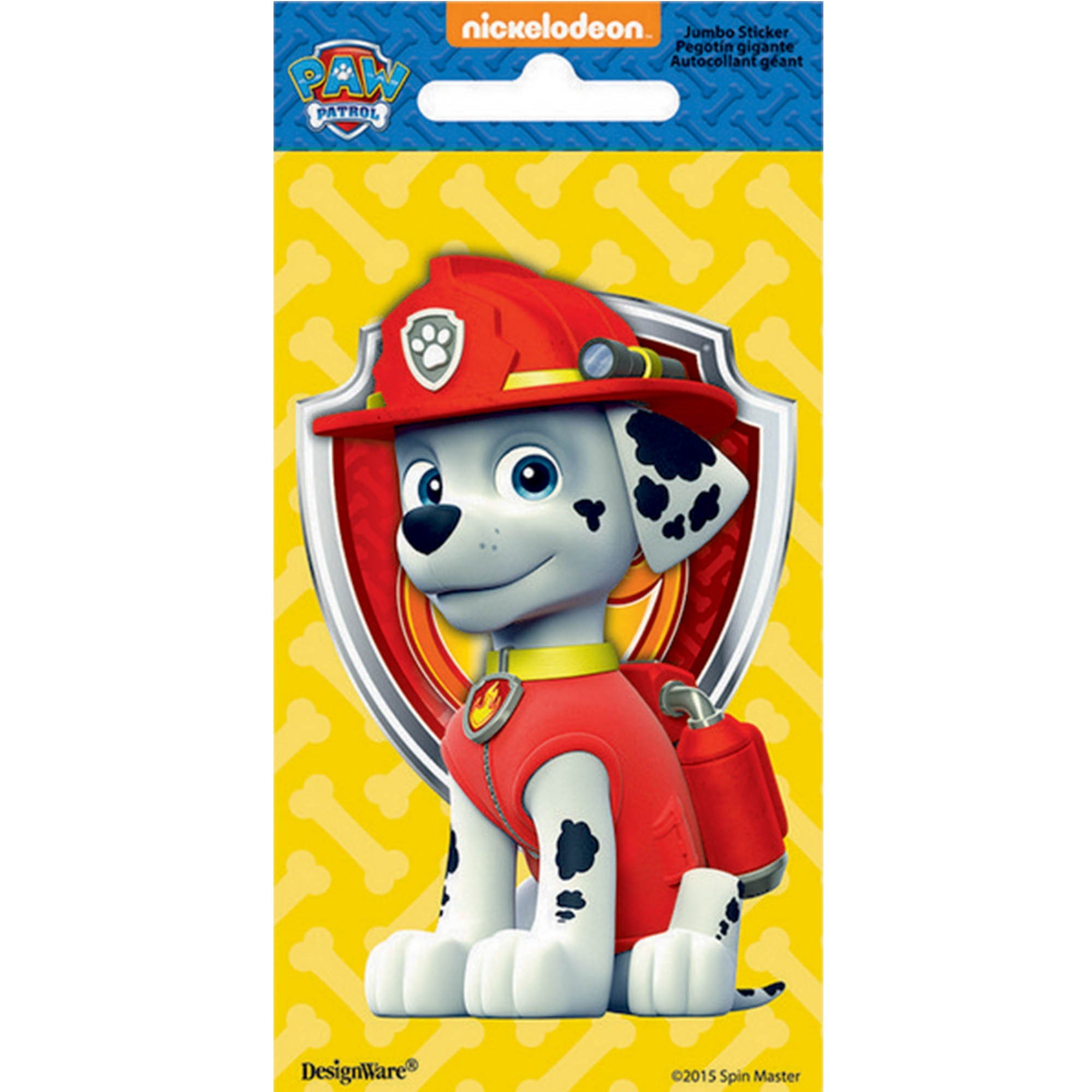 Stickers Jumbo Favor Paw Patrol Marshall