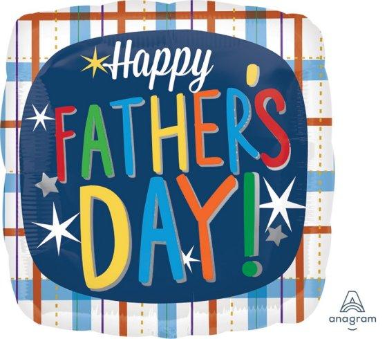 45cm Standard HX Happy Fathers Day Plaid S40
