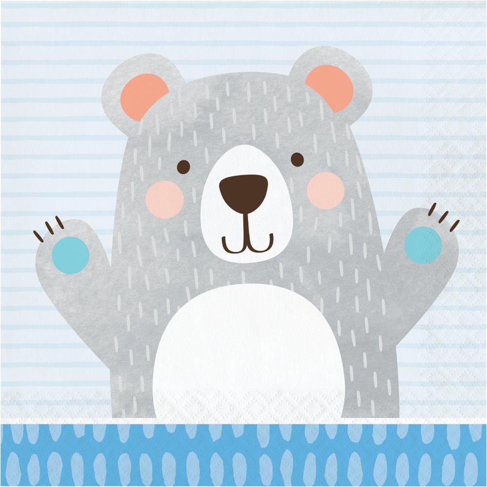 1st Birthday Bear Lunch Napkins