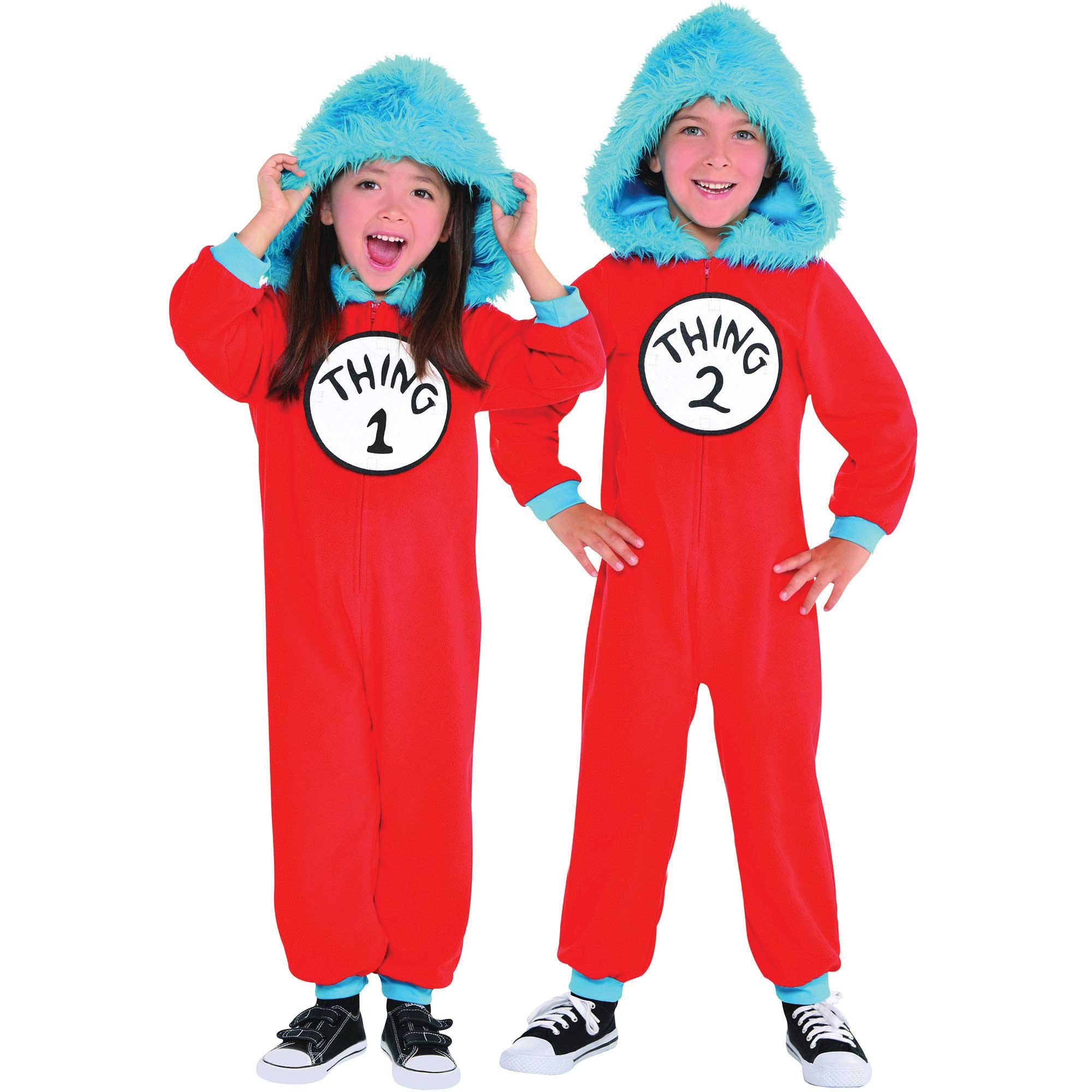 Thing 1 & 2 Jumpsuit Costume Set