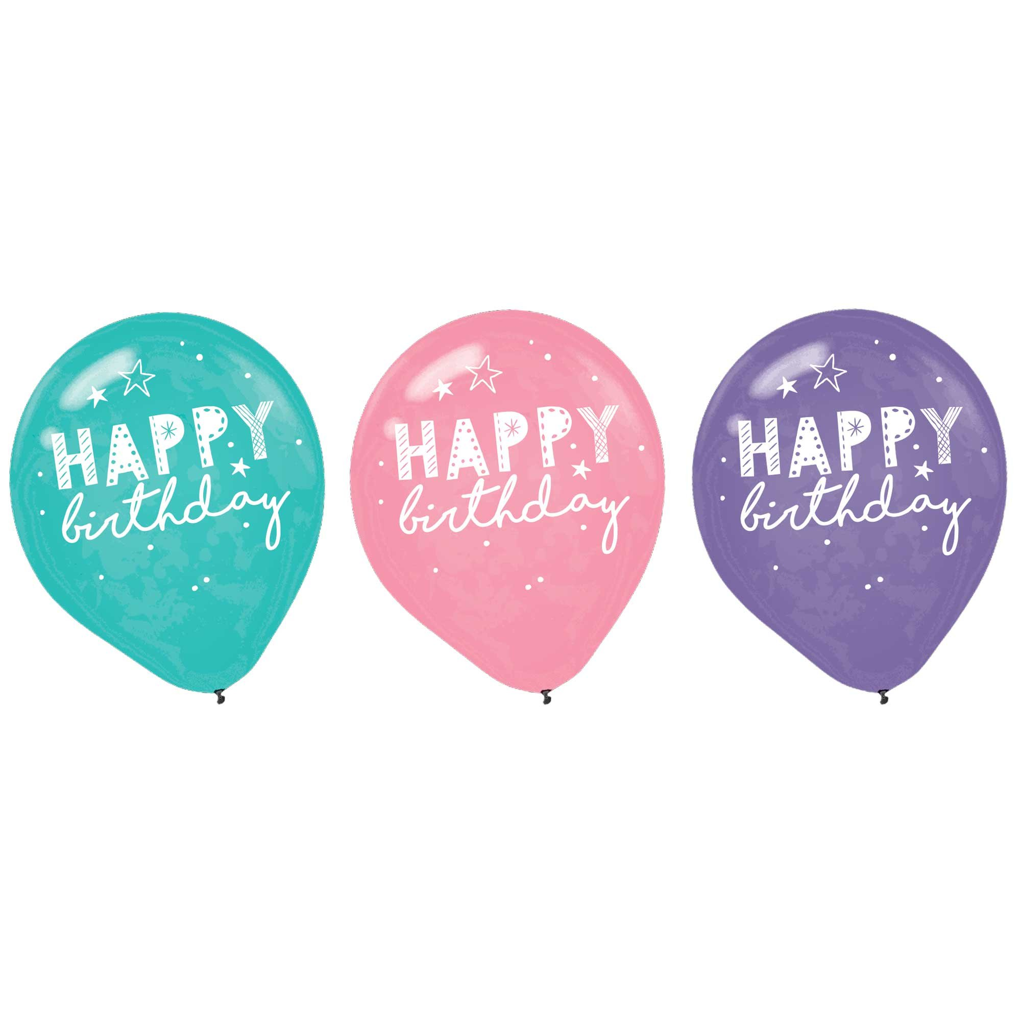 Girl-Chella Happy Birthday 30cm Latex Balloons