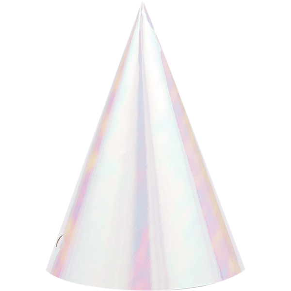 Iridescent Foil Cone Shaped Party Hats