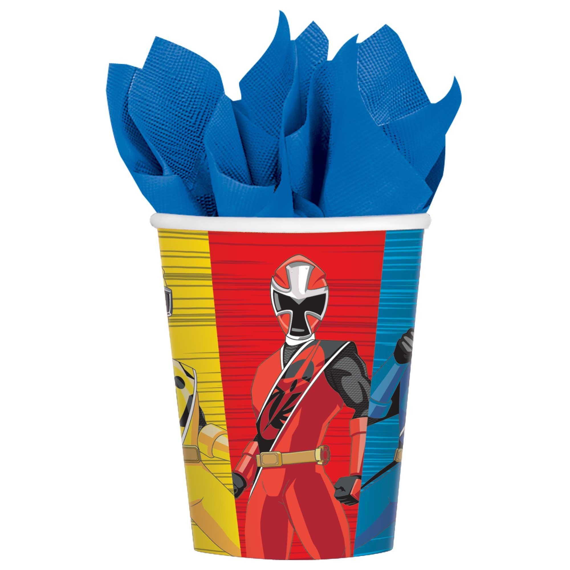 Power Rangers Ninja Steel 9oz / 266ml Paper Cups