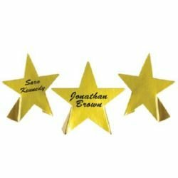 Awards Night Stars Gold Foil Place Cards