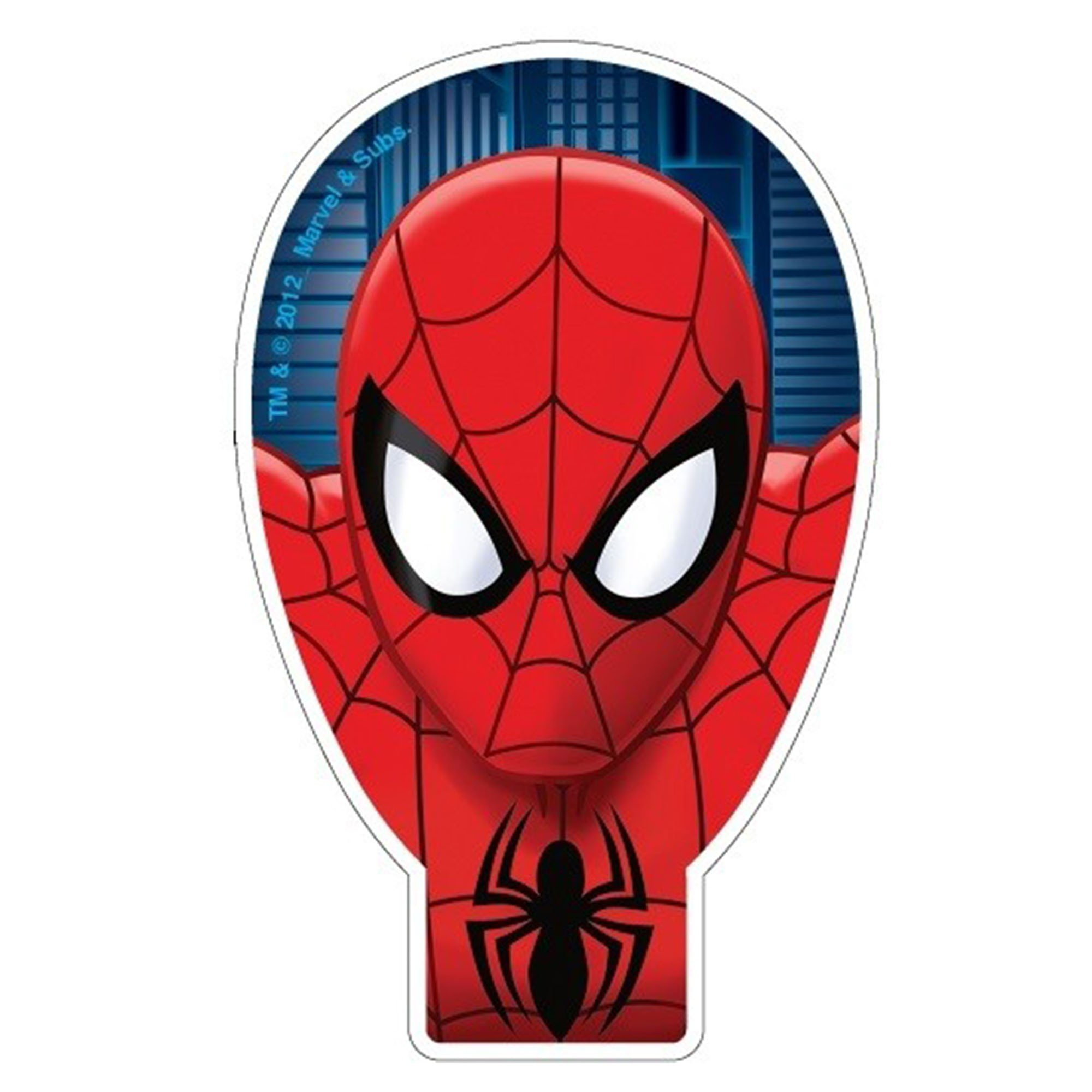 Ultimate Spider-Man Flat Candle