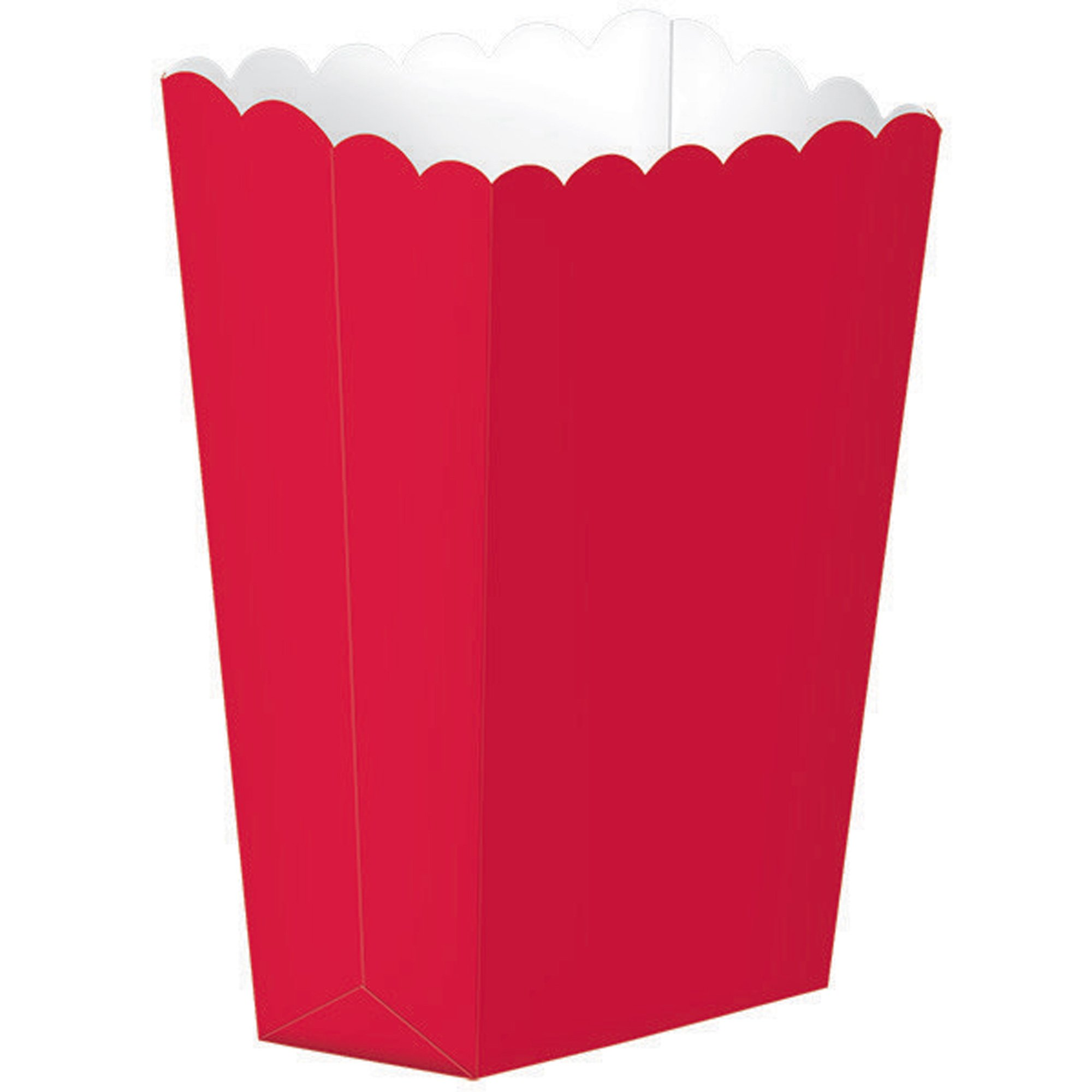 Popcorn Favor Boxes Small Apple Red