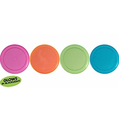 23cm Neon Dinner Plates Assorted Colours Plastic