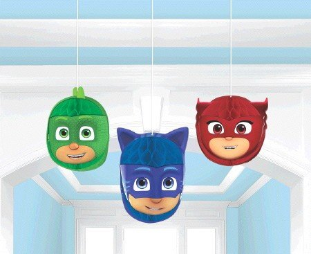 PJ Masks Honeycomb Decorations - Tissue & Printed Paper