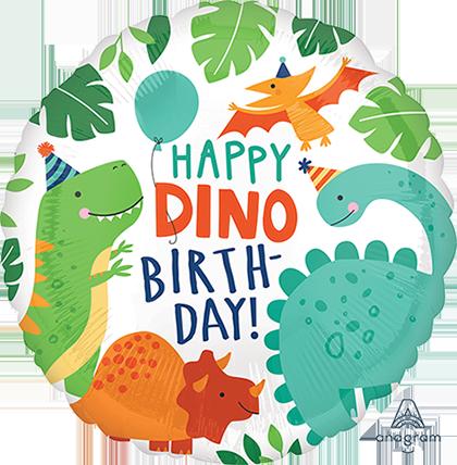 45cm Standard HX Happy Dino Birthday Dinomite Dinosaur Party S40