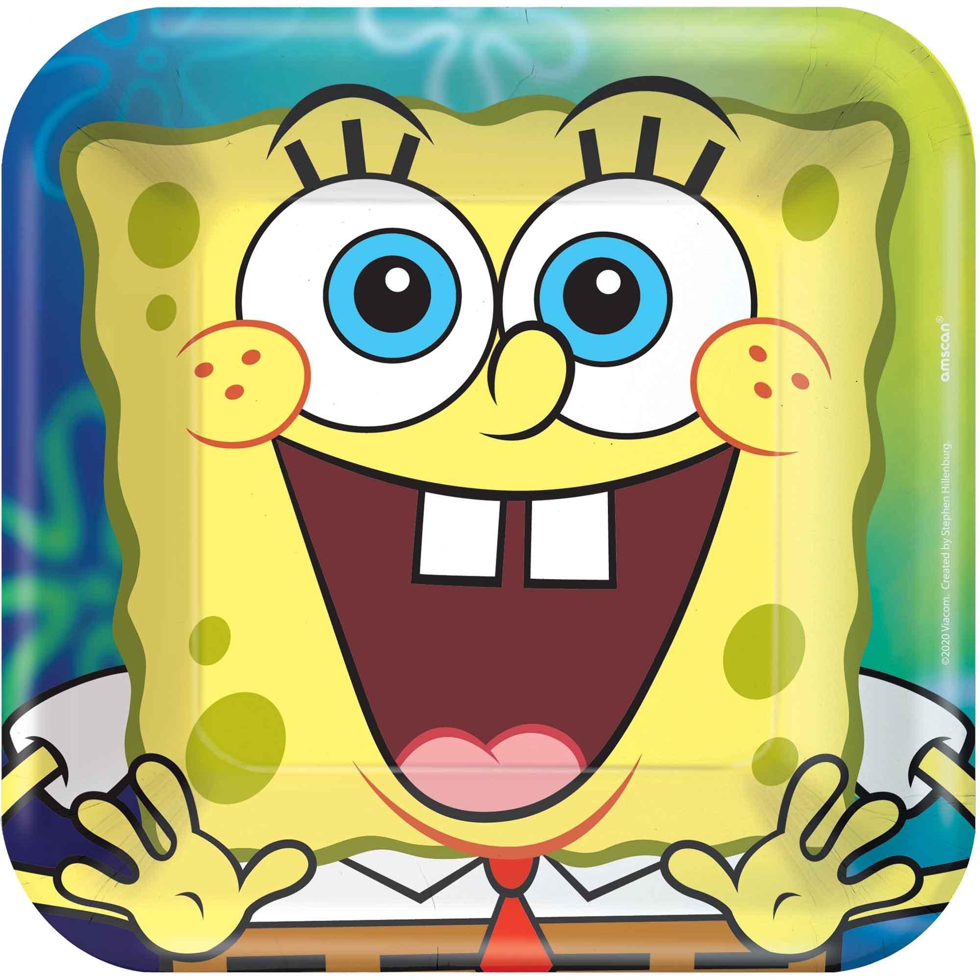 """SpongeBob 7"""" / 17cm Square Paper Plates"