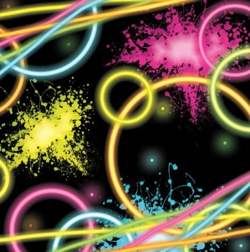 Glow Party Lunch Napkins