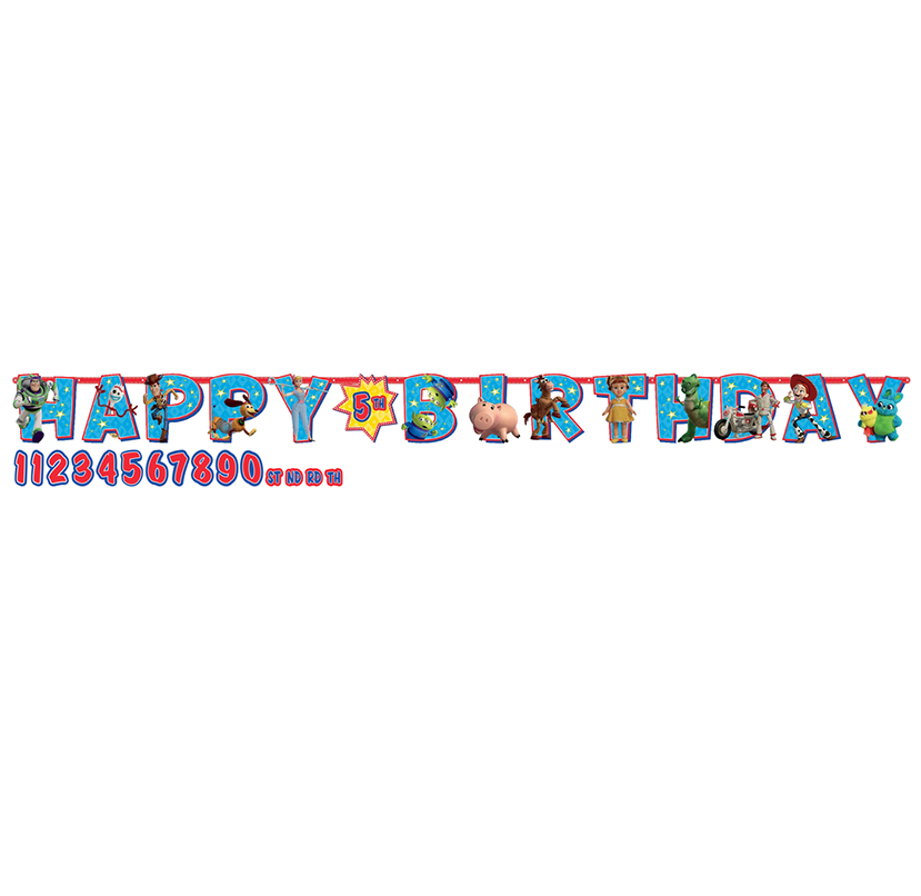 Toy Story 4 Jumbo Happy Birthday Add-An-Age Letter Banner