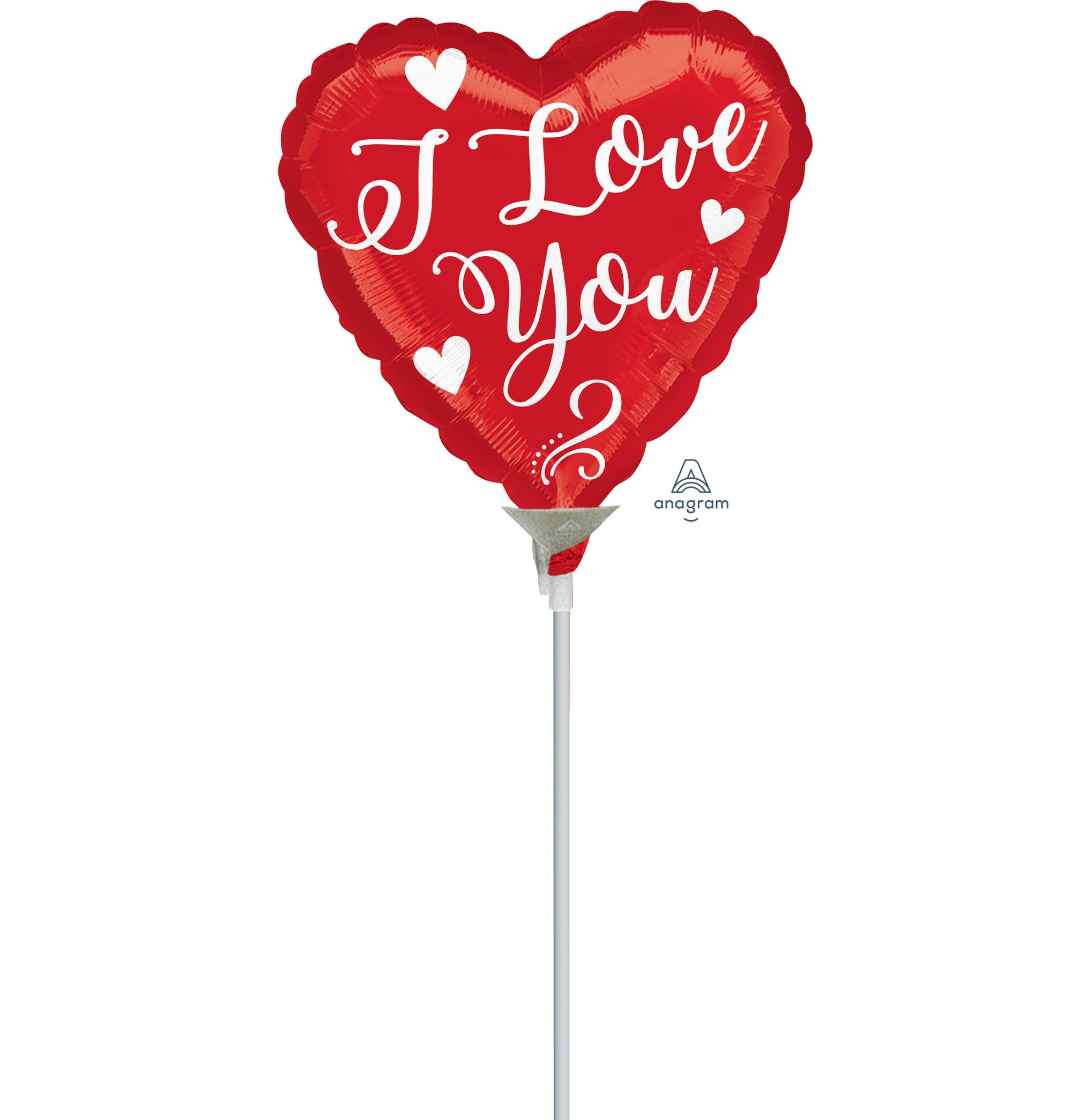 22cm I Love You White Script A15
