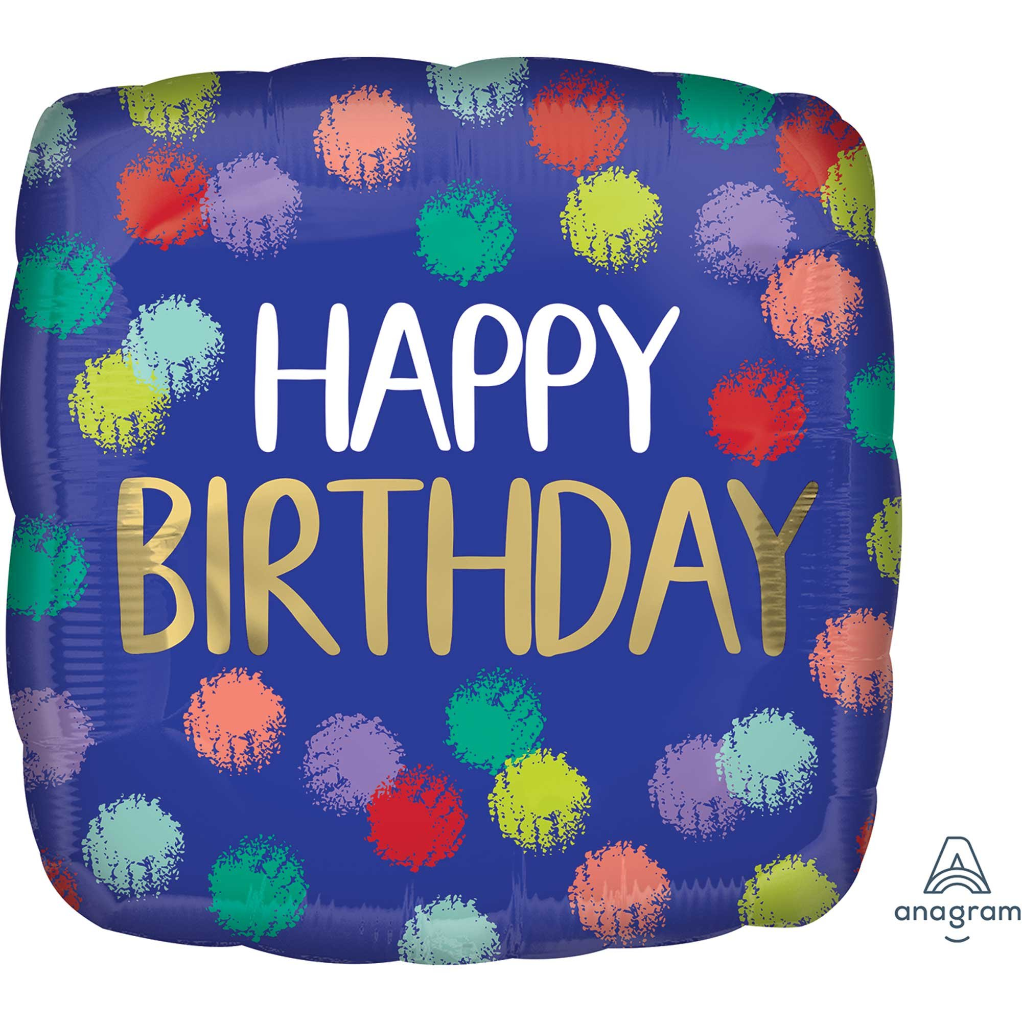 45cm Standard HX Brushed Happy Birthday S40