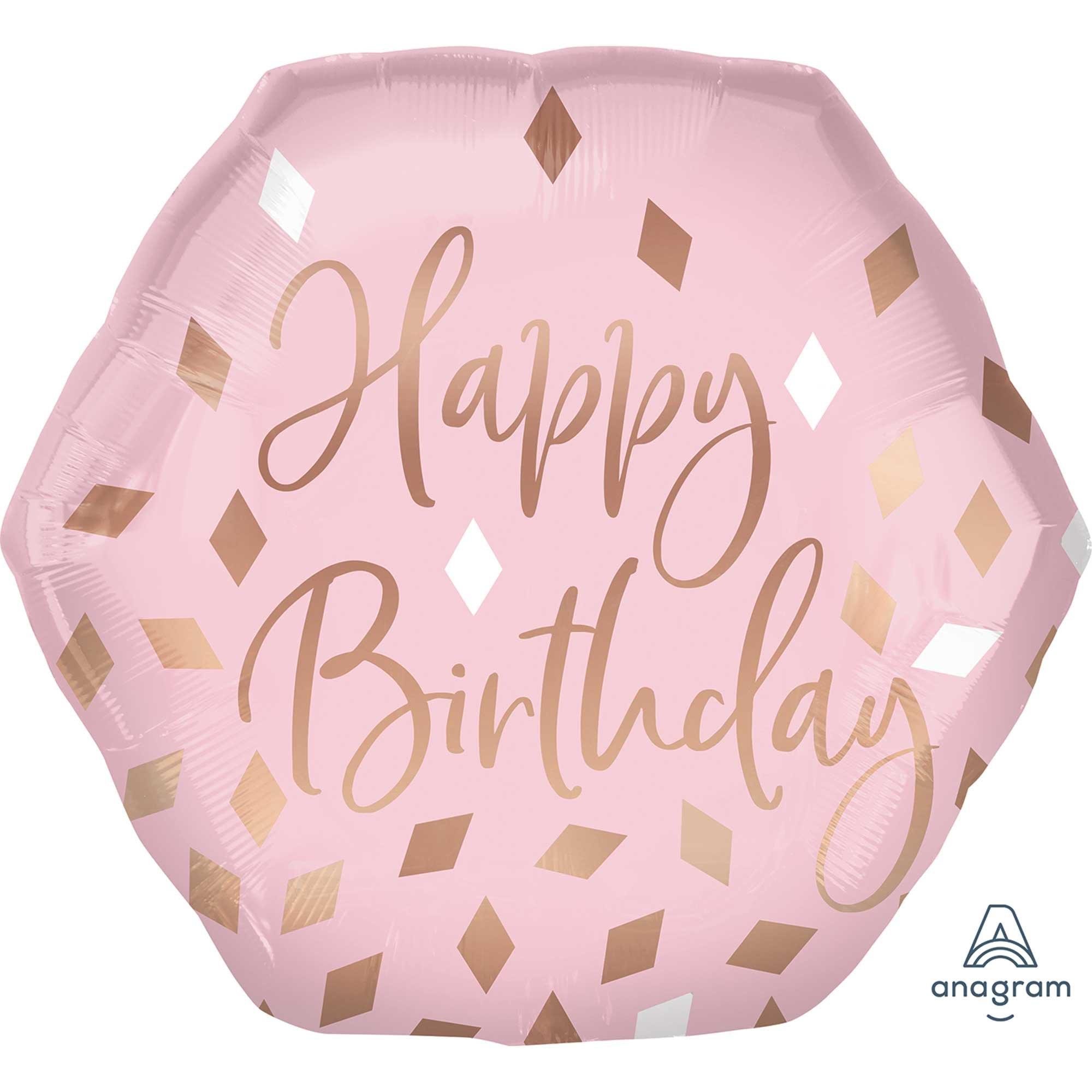 SuperShape XL Blush Happy Birthday P30