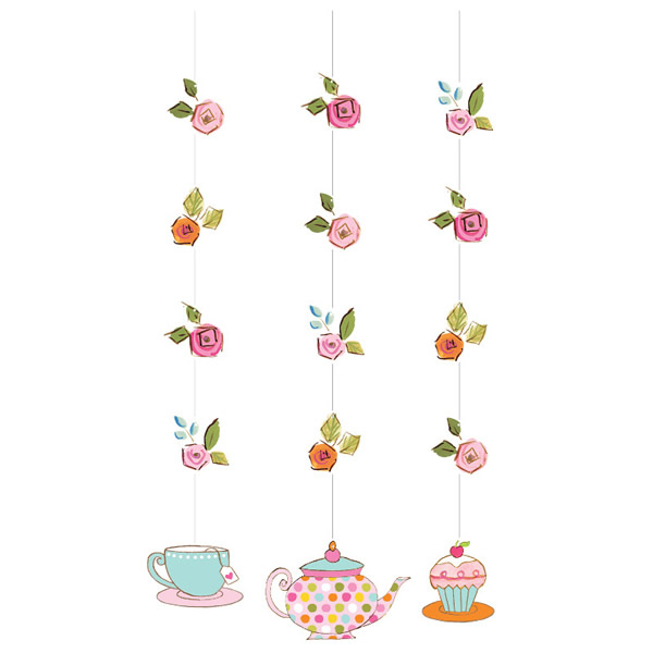 Tea Time Hanging String Decorations