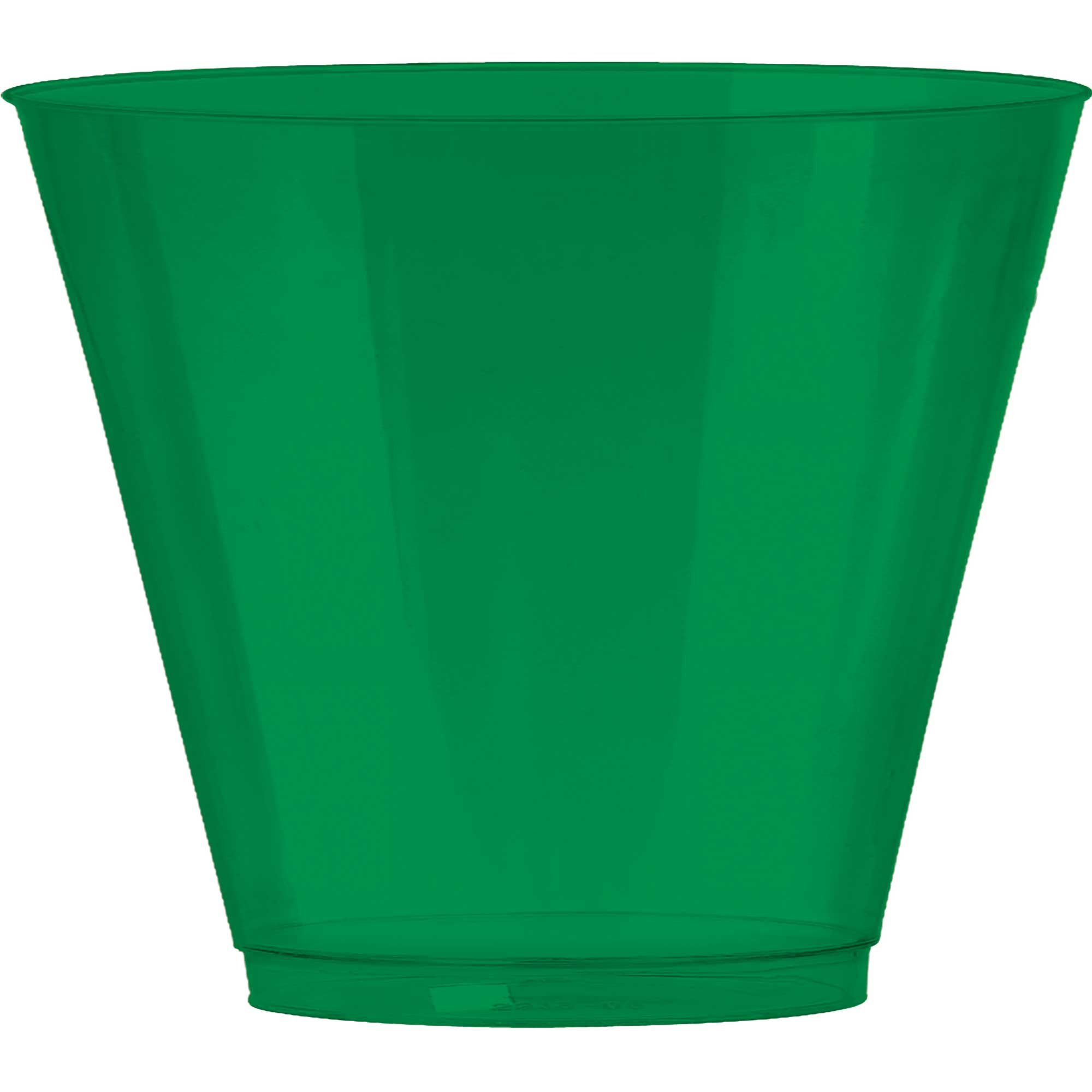 Big Party Pack 9oz/266ml Plastic Tumbler Festive Green