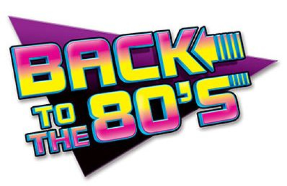 Back to the 80's Sign Cutout