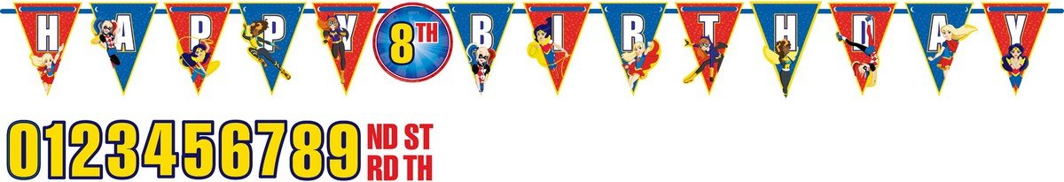 DC Superhero Girls Jumbo Add-An-Age Banner