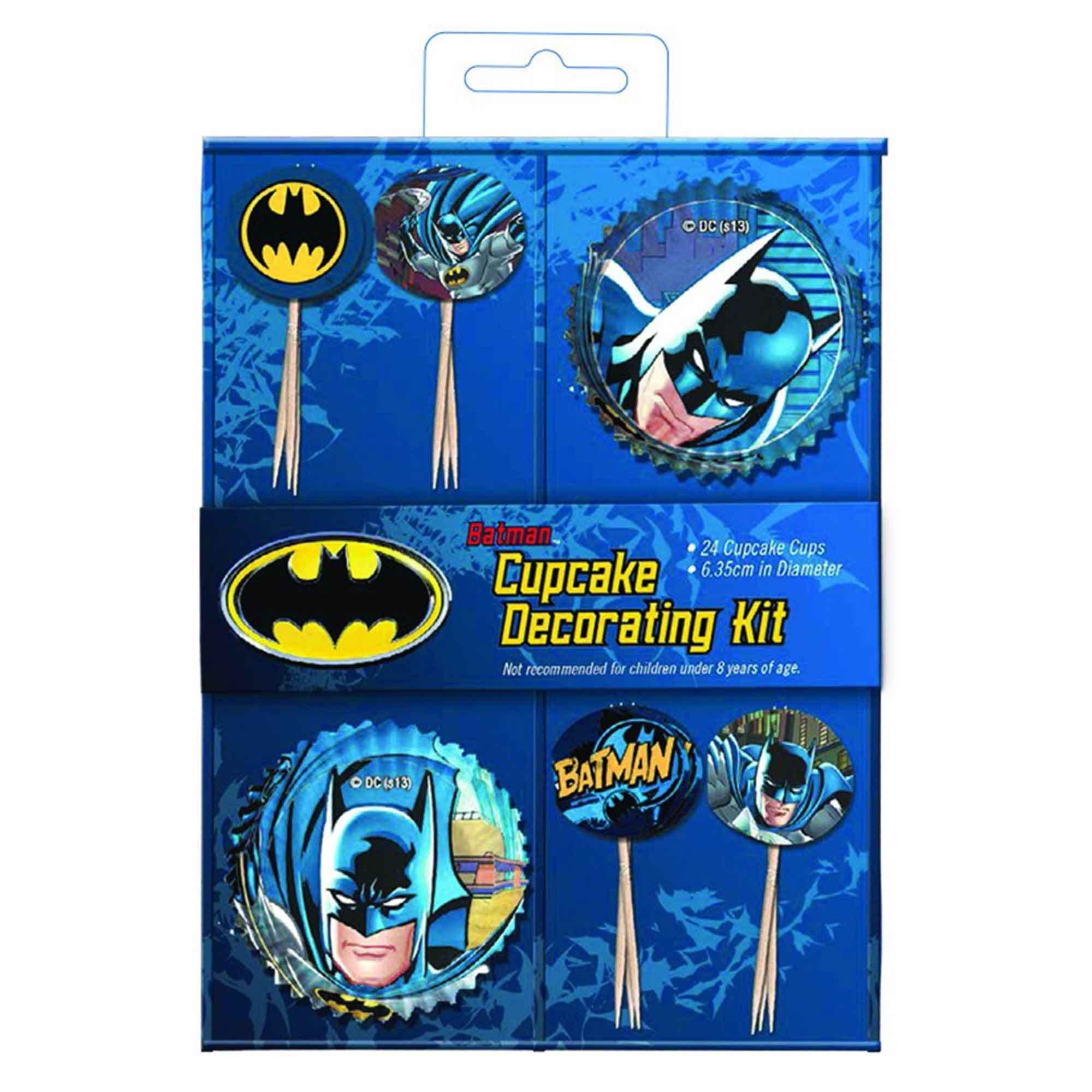 Batman Cupcake Decorations Kit
