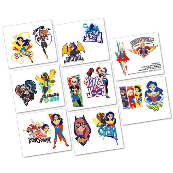 DC Superhero Girls Tattoo Favor