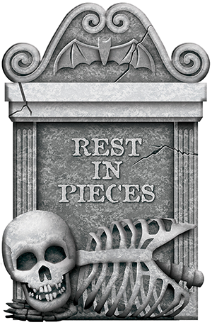 Rest In Pieces Tombstone