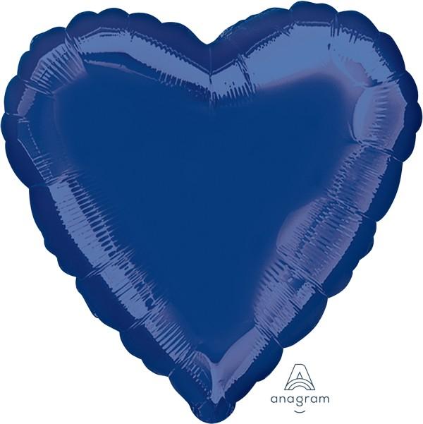 45cm Standard XL Navy Blue Heart S15