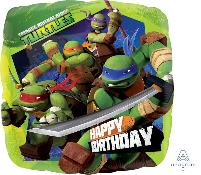 45cm Standard XL Teenage Mutant Ninja Turtles Happy Birthday S60