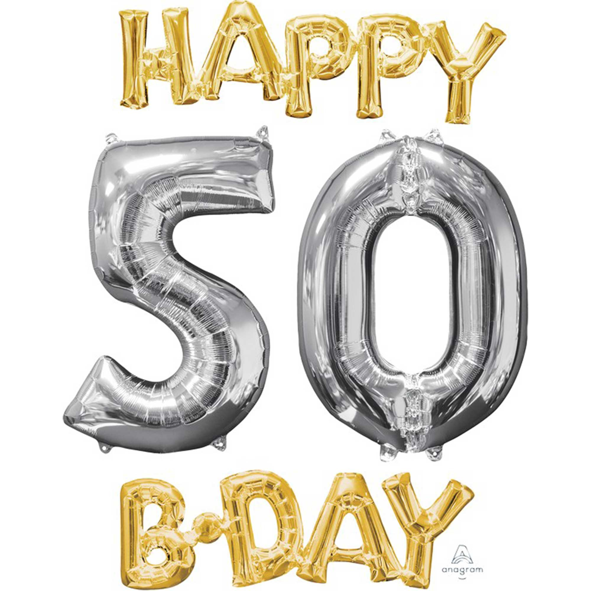 CI: Bunch Happy 50 Birthday Gold & Silver P75