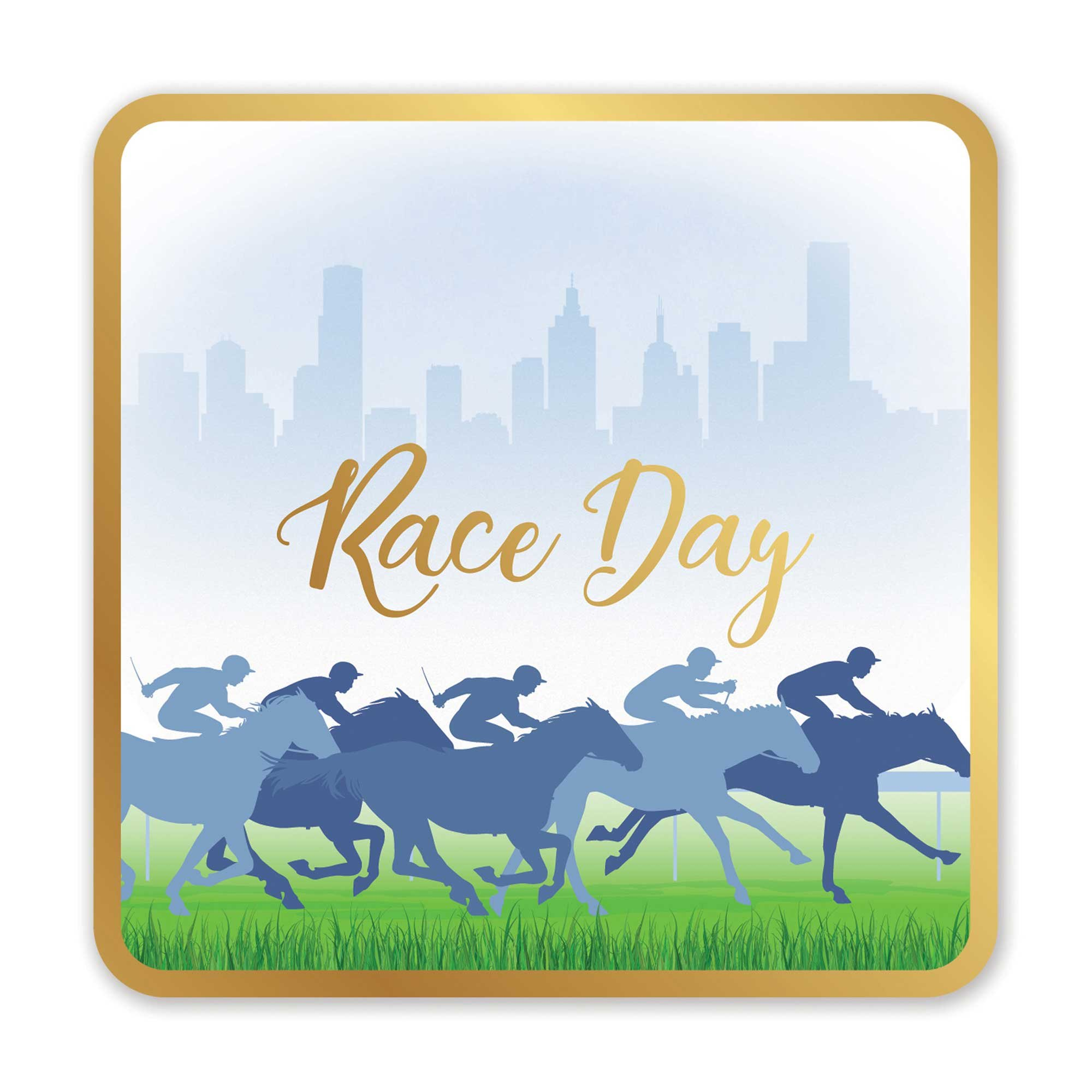 Race Day Hot Stamped Drink Coasters - Pack 6