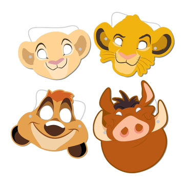 Lion King Paper Masks