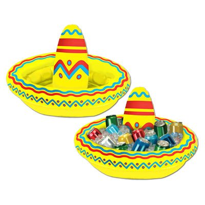 Inflatable Sombrero Fiesta Cooler
