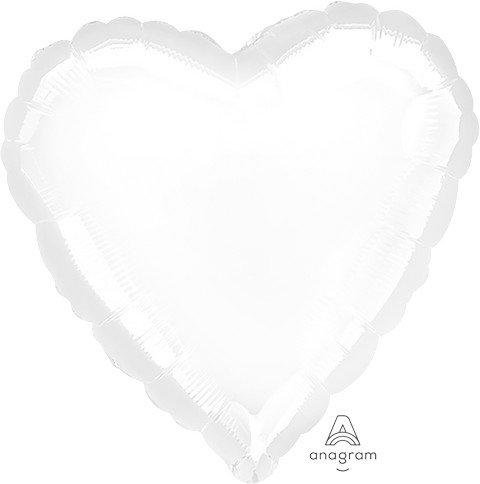 45cm Standard Heart HX Metallic White S15