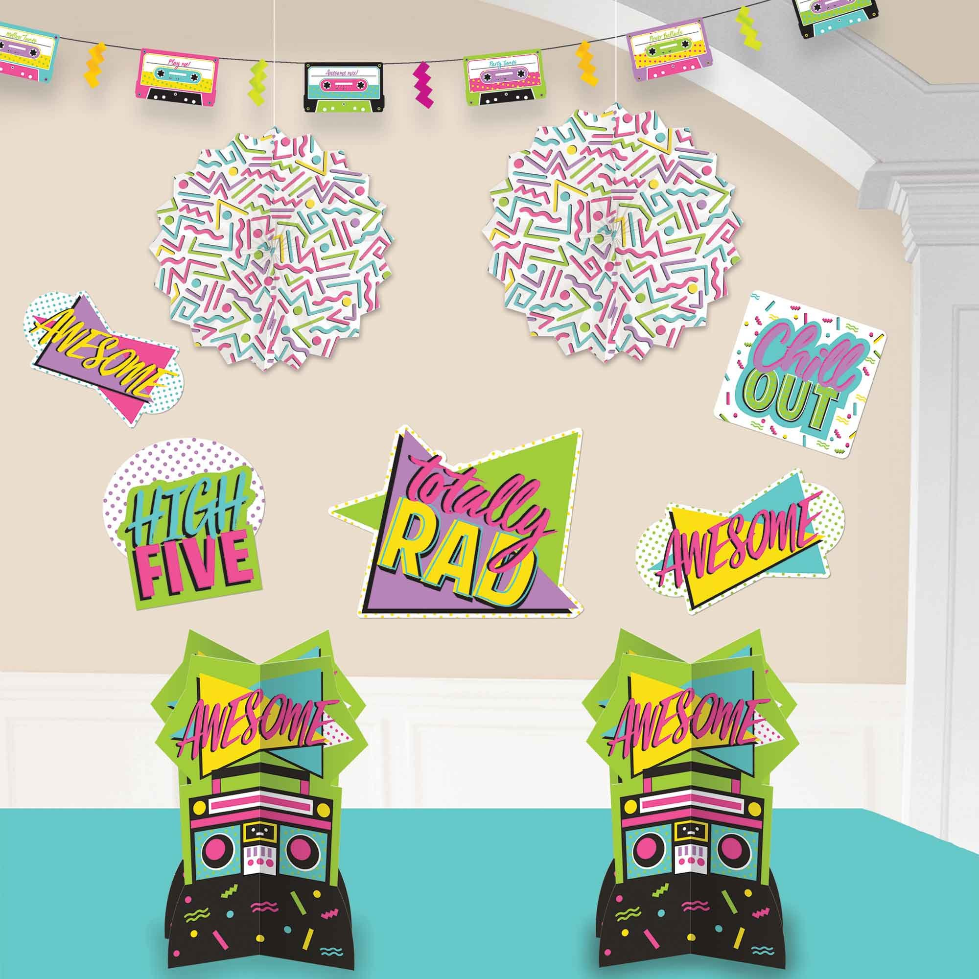 Awesome Party 80's Room Decorating Kit