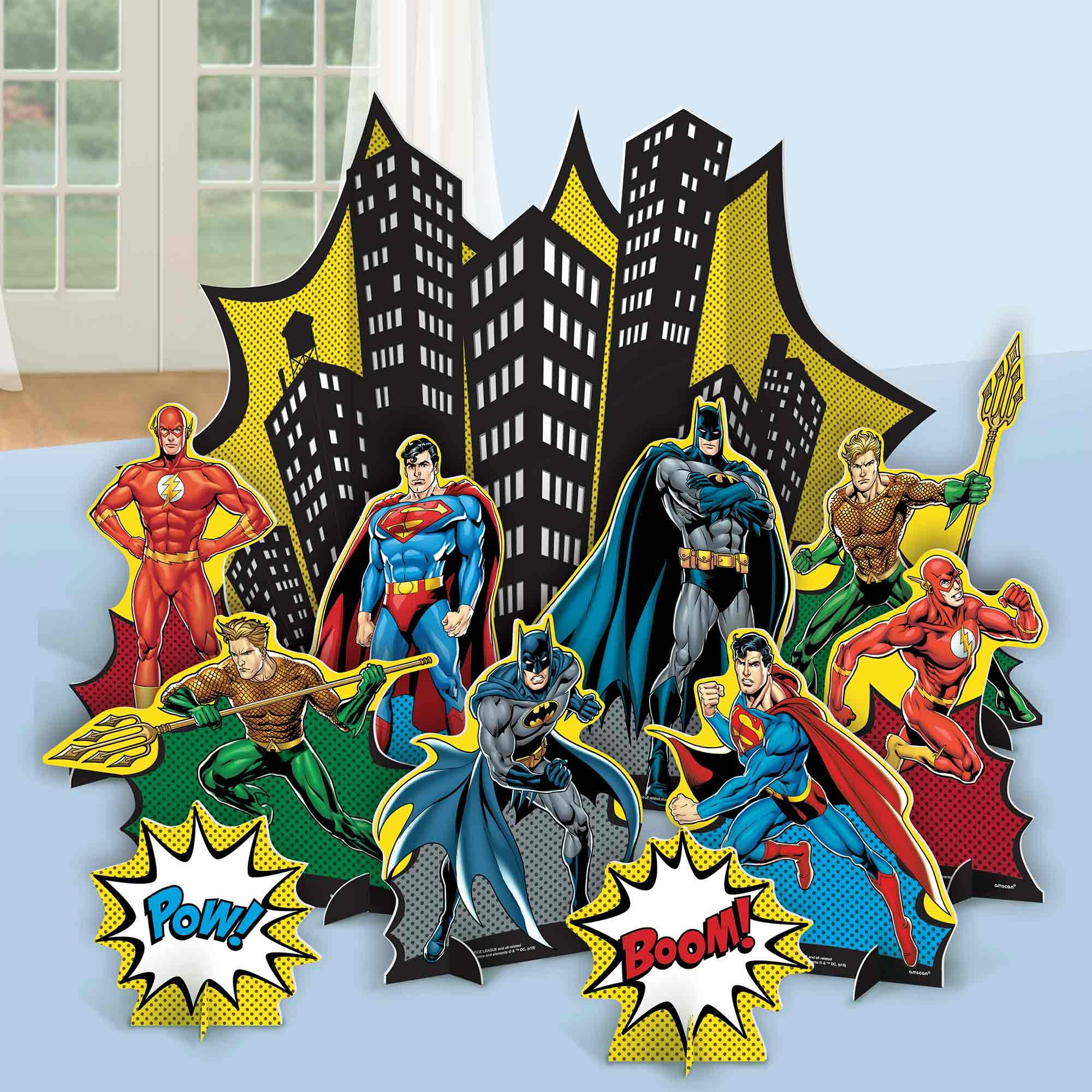 Justice League Heroes Unite Table Decorating Kit
