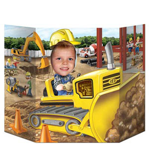 Construction Bulldozer Photo Prop
