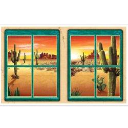 Western Desert Window Decorations Insta-Theme Props