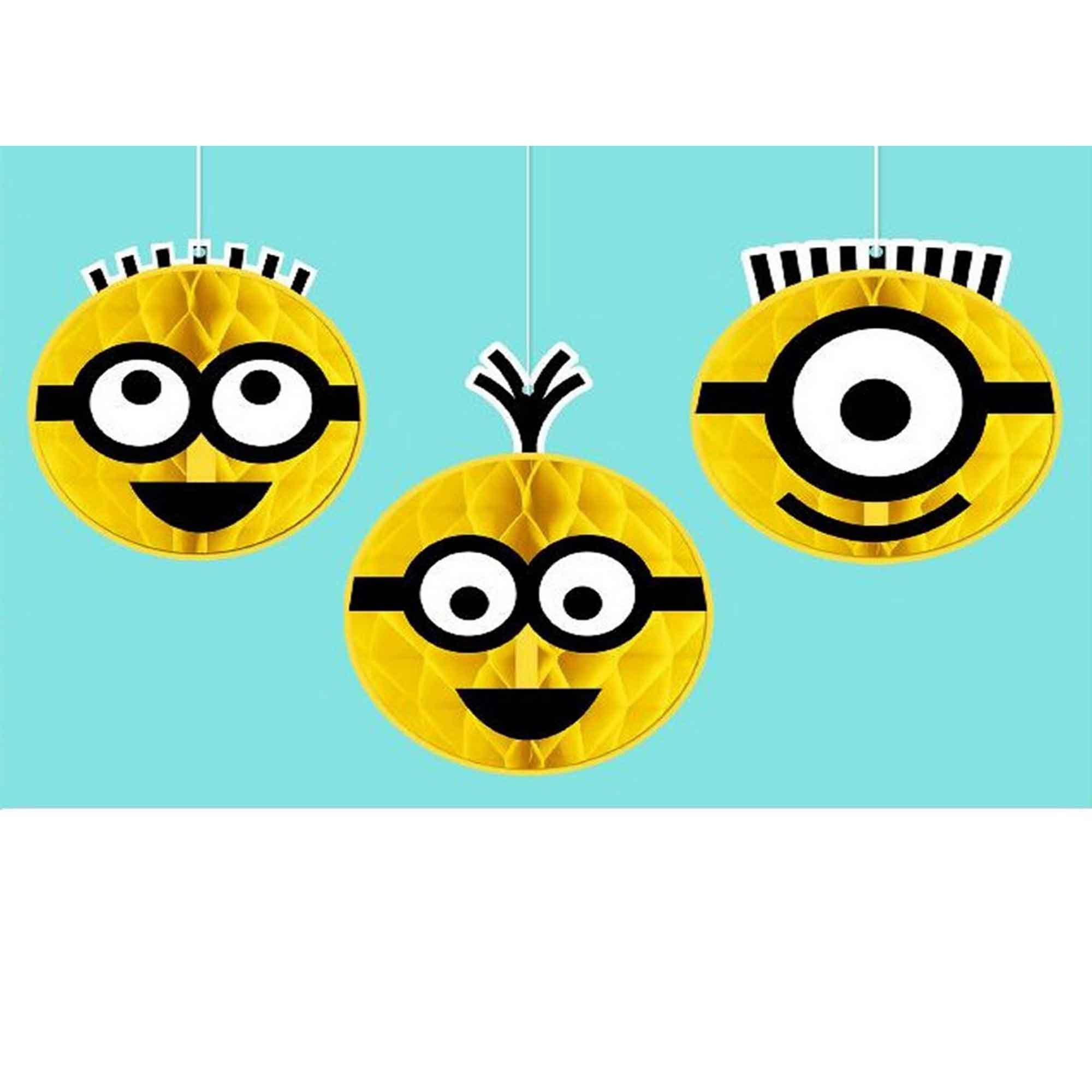 Despicable Me Honeycomb Decorations