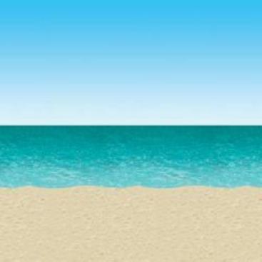 Backdrop Ocean & Beach Scene Setter