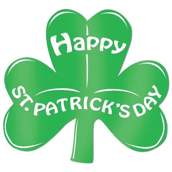 Shamrock Cutout Foil Happy St Patrick's Day