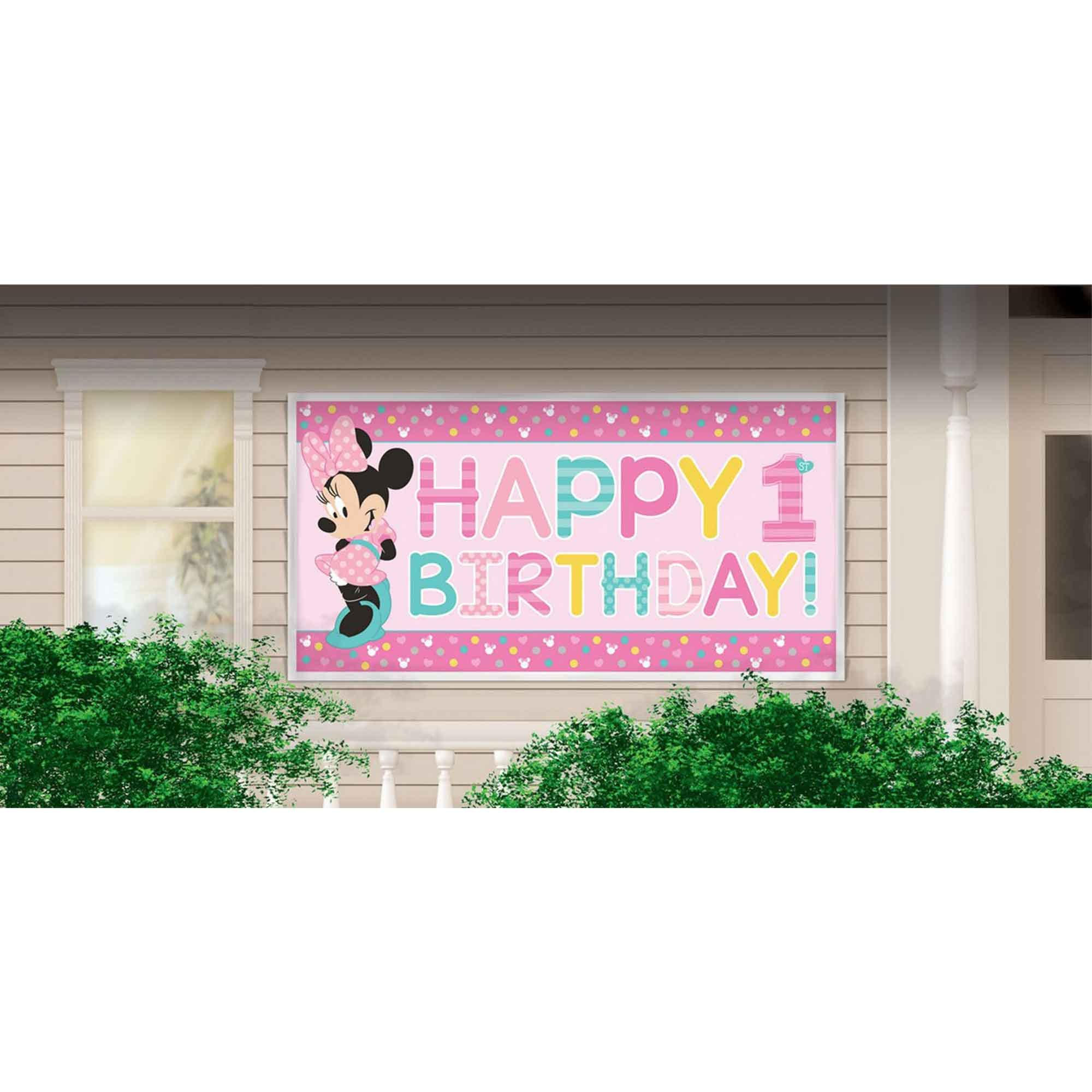 Minnie Fun To Be One Horizontal Giant Sign Banner