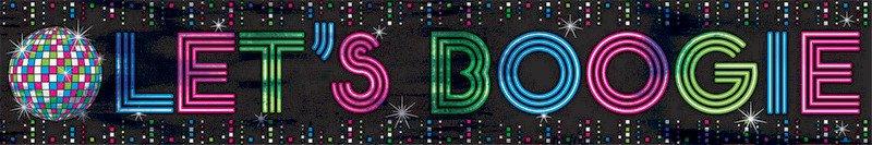 Disco Fever Foil Banner