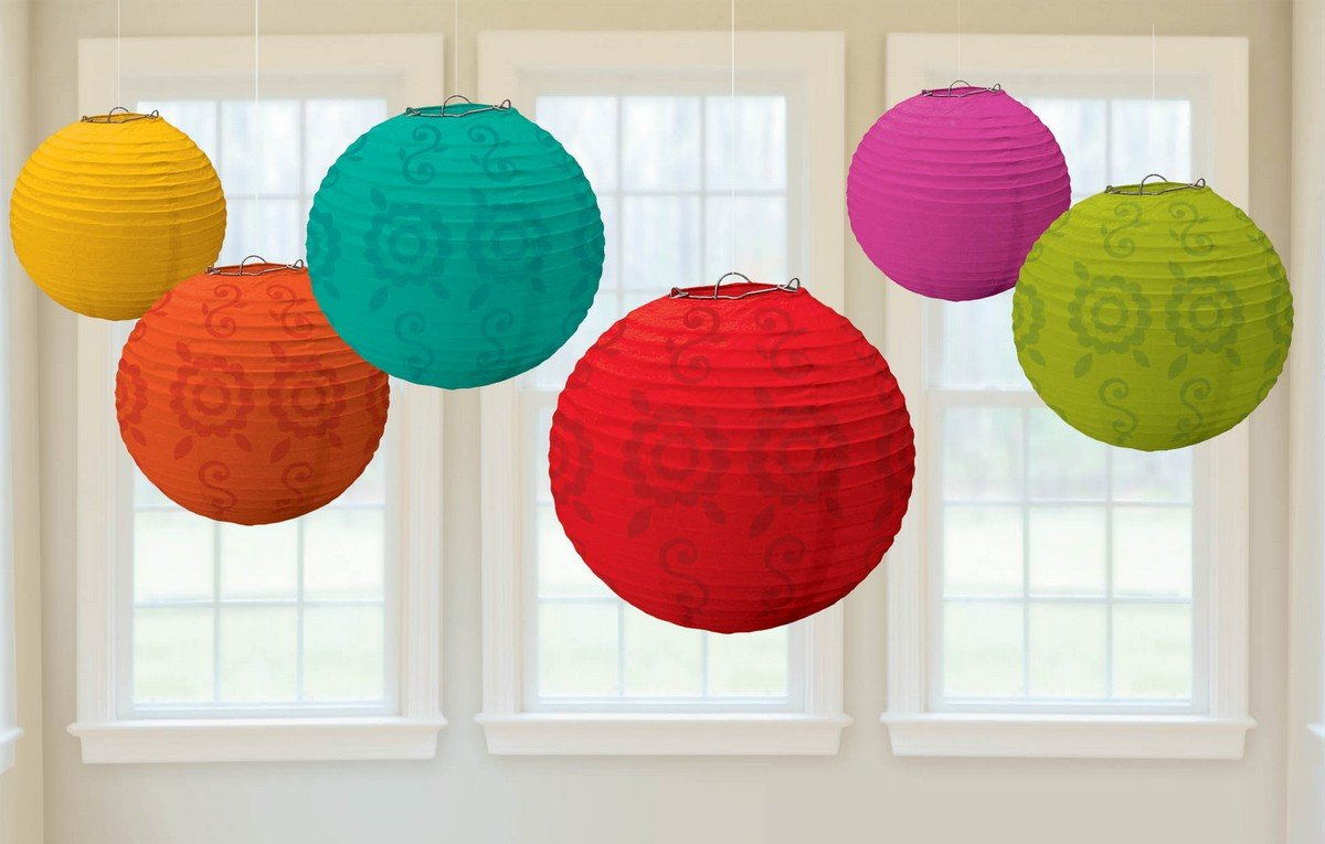 Fiesta Round Paper Lanterns Value Pack