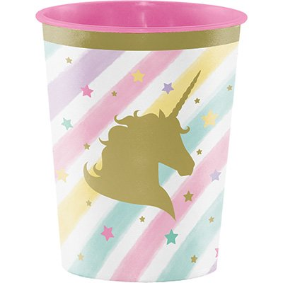Unicorn Sparkle Keepsake Souvenir Favor Cup Plastic 473ml